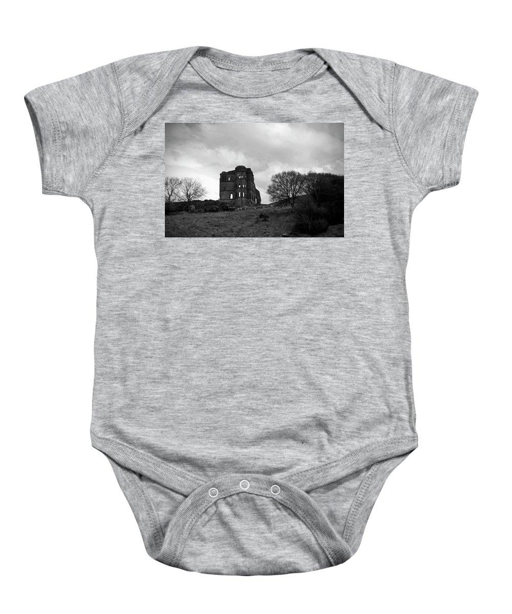 Castle Baby Onesie featuring the photograph Castle Ruin by Aidan Moran