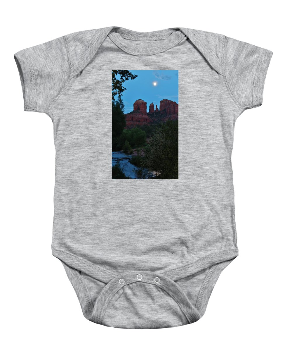 Cathedral Rock Baby Onesie featuring the photograph Cathedral Rock Rrc 081913 Ad by Edward Dobosh