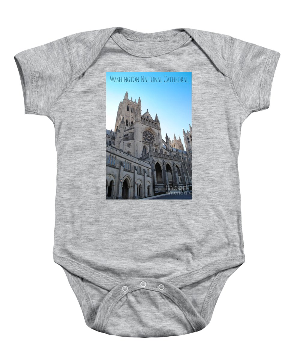 Washington Baby Onesie featuring the photograph Cathedral Travel by Jost Houk