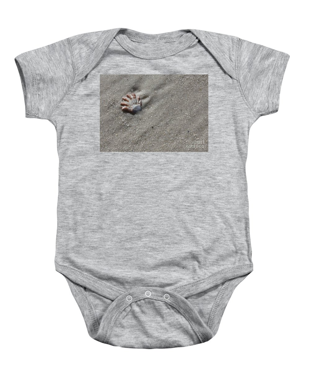 Shell Baby Onesie featuring the photograph Cat's Paw by Carol Groenen