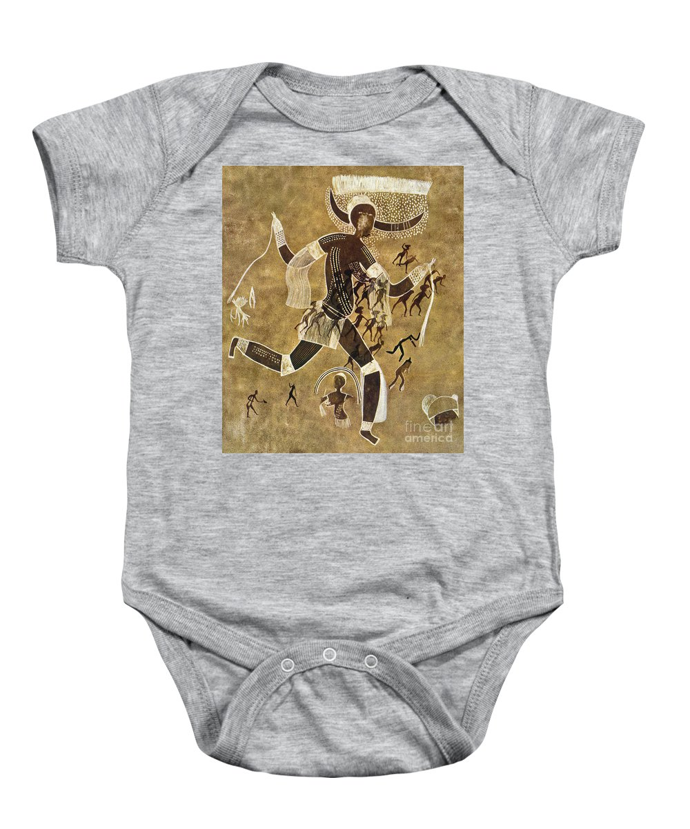 African Baby Onesie featuring the photograph Cave Art by Granger