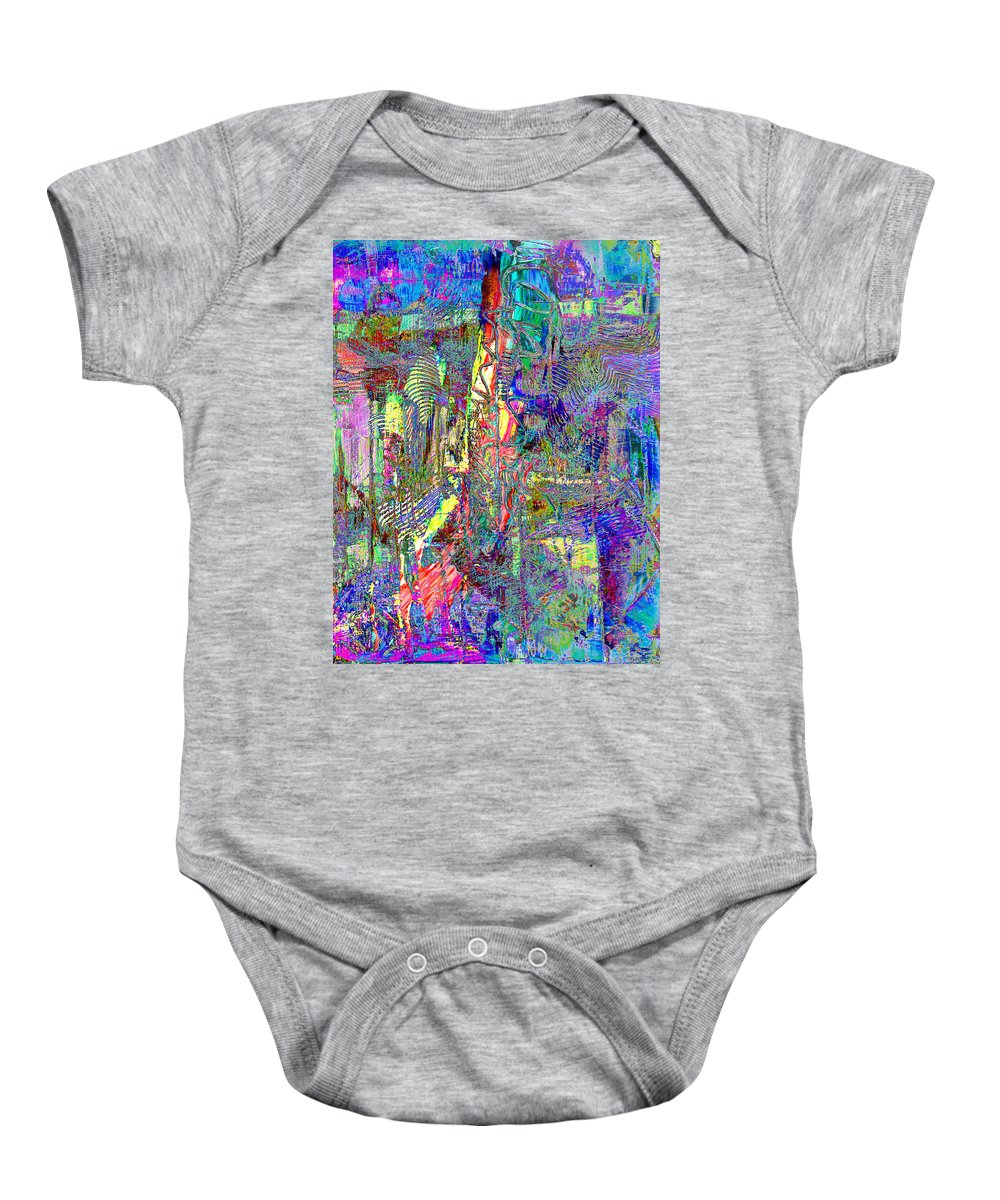 Celebration Baby Onesie featuring the painting Celebrate by Wayne Potrafka