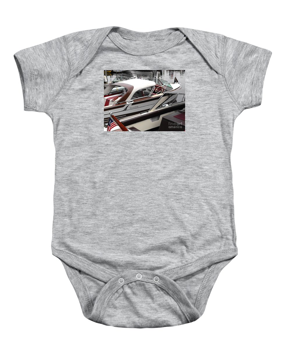 Motorboat Baby Onesie featuring the photograph Century Coronado by Neil Zimmerman