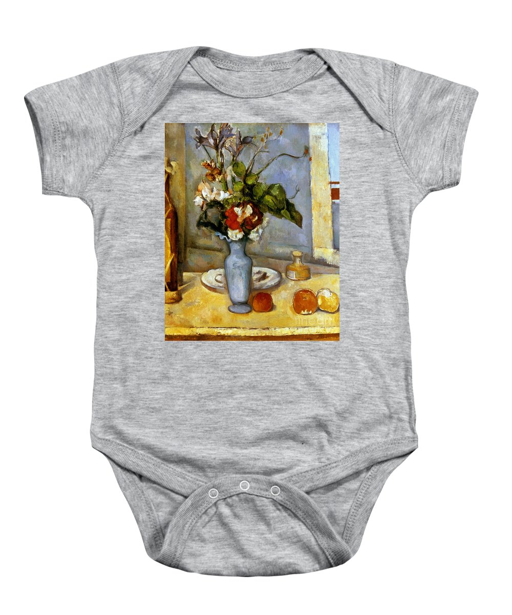 19th Century Baby Onesie featuring the photograph Cezanne: Blue Vase, 1885-87 by Granger