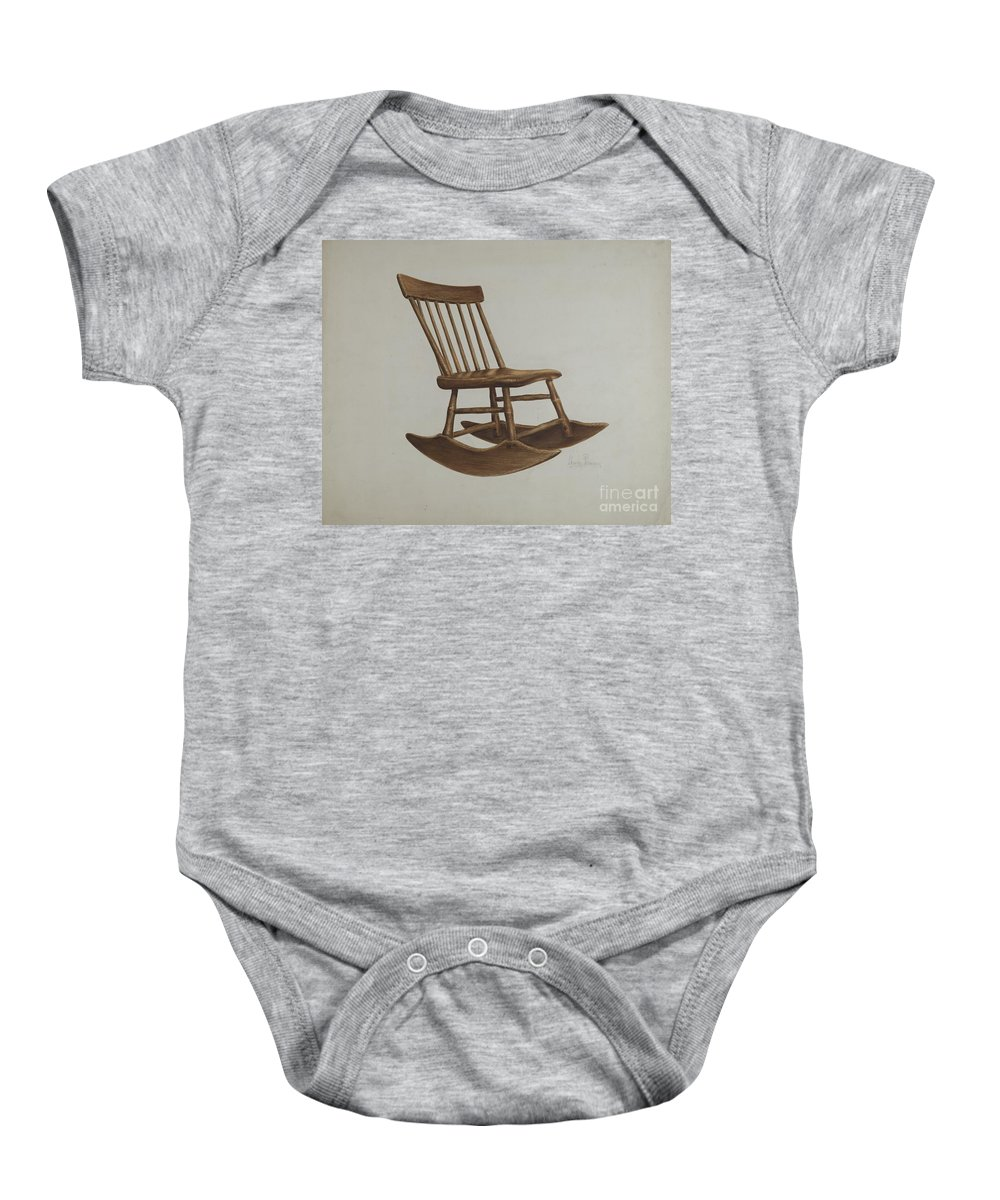 Baby Onesie featuring the drawing Chair by Charles Bowman