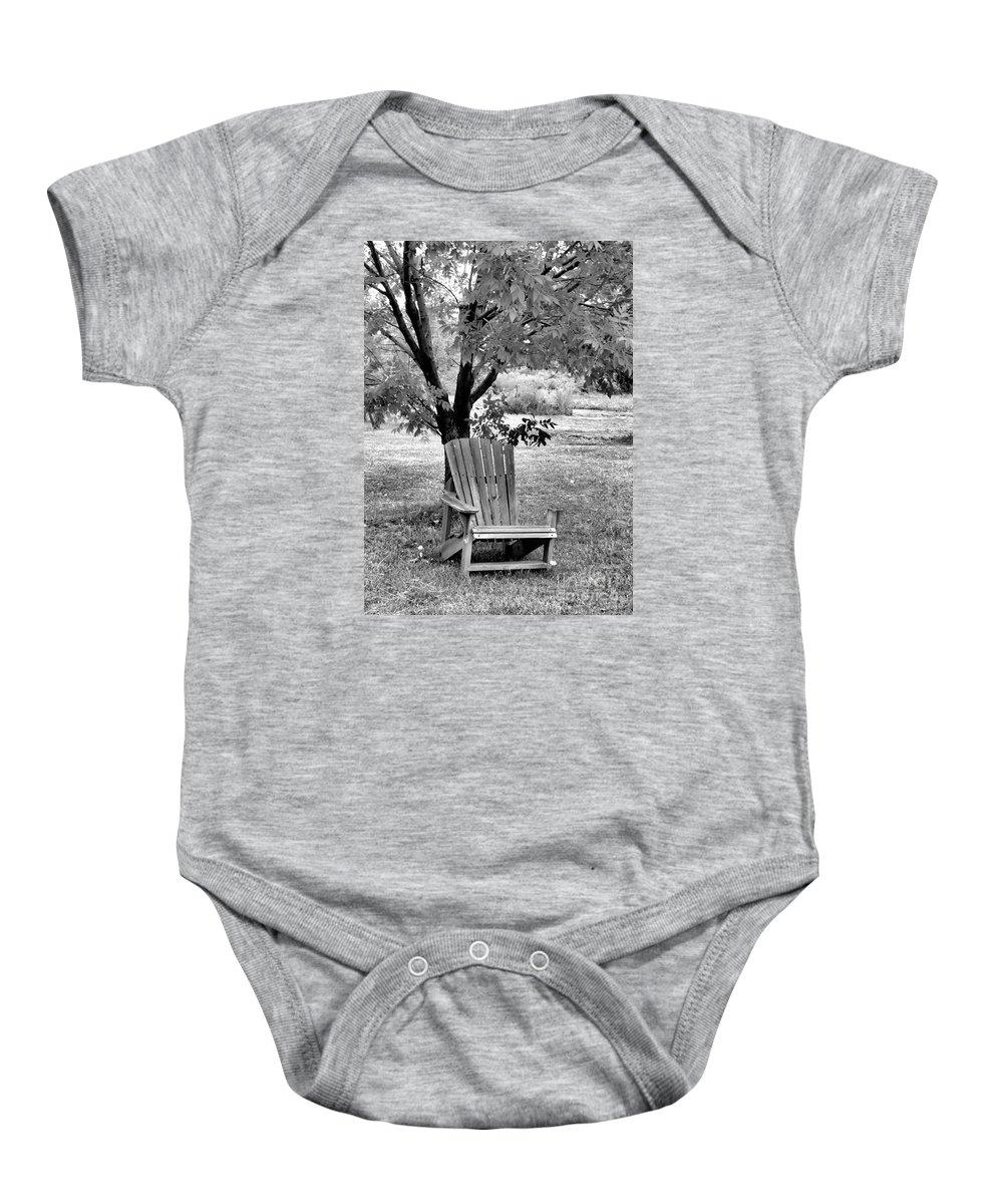 Chair Baby Onesie featuring the photograph Chair by John Krakora