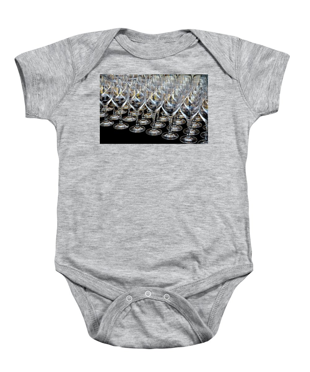 Flute Baby Onesie featuring the photograph Champagne Army by Stephen Mitchell
