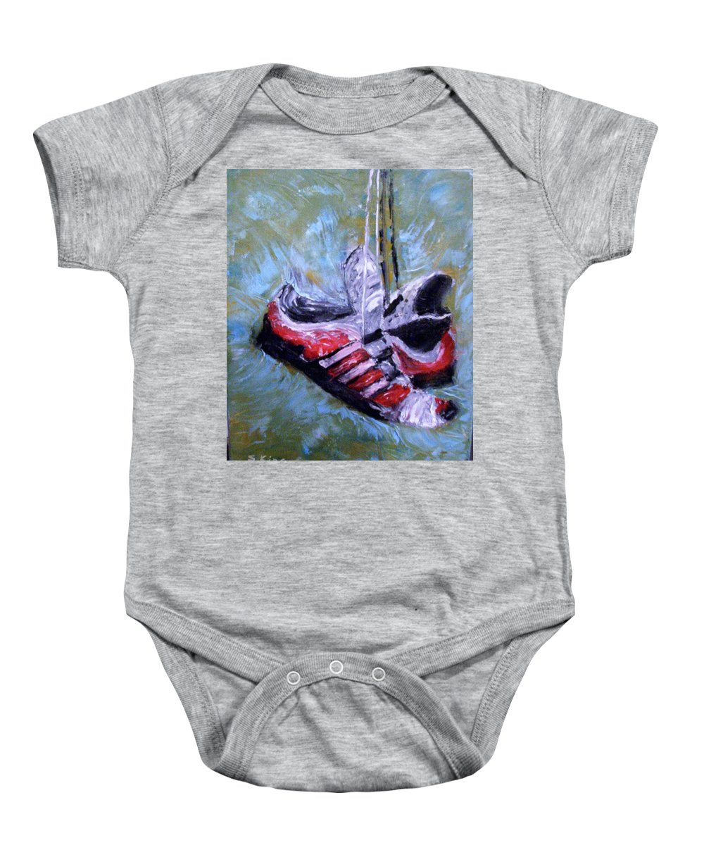 Still Life Baby Onesie featuring the painting Champion by Stephen King