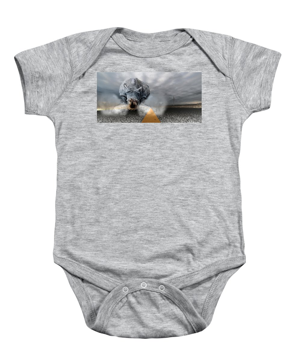 Chaos Artwork Photoshop Baby Onesie featuring the digital art Chaos by Alex Grichenko