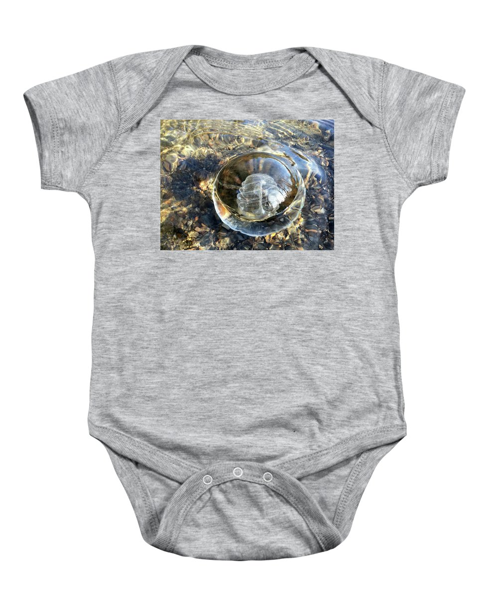 Glass Baby Onesie featuring the photograph Cirron With Trees by Sue Reed