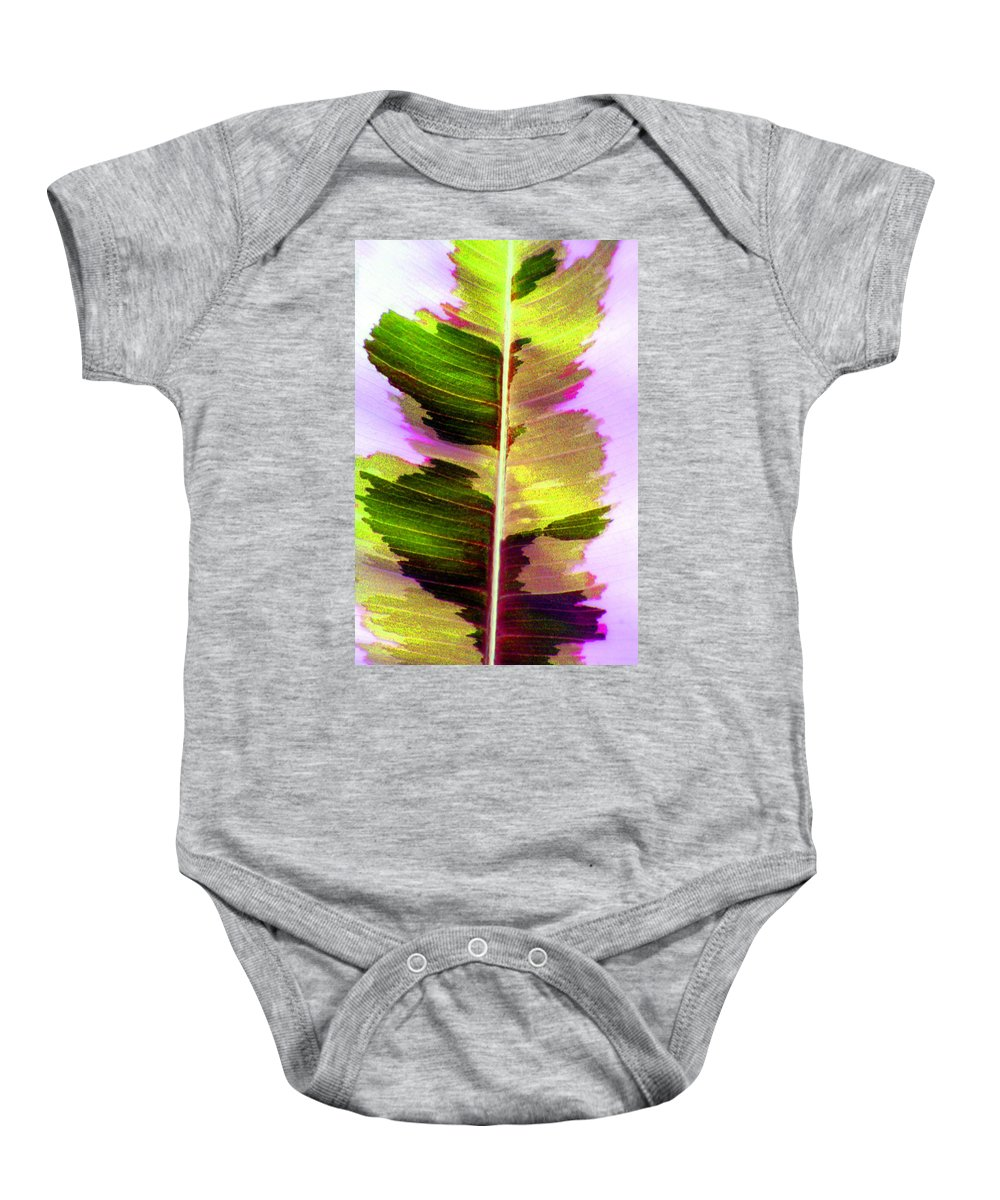Leaf Baby Onesie featuring the photograph Chartreuse by Carolyn Stagger Cokley