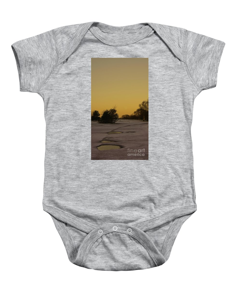 Brownhills Baby Onesie featuring the photograph Chasewater Evening by Mickey At Rawshutterbug