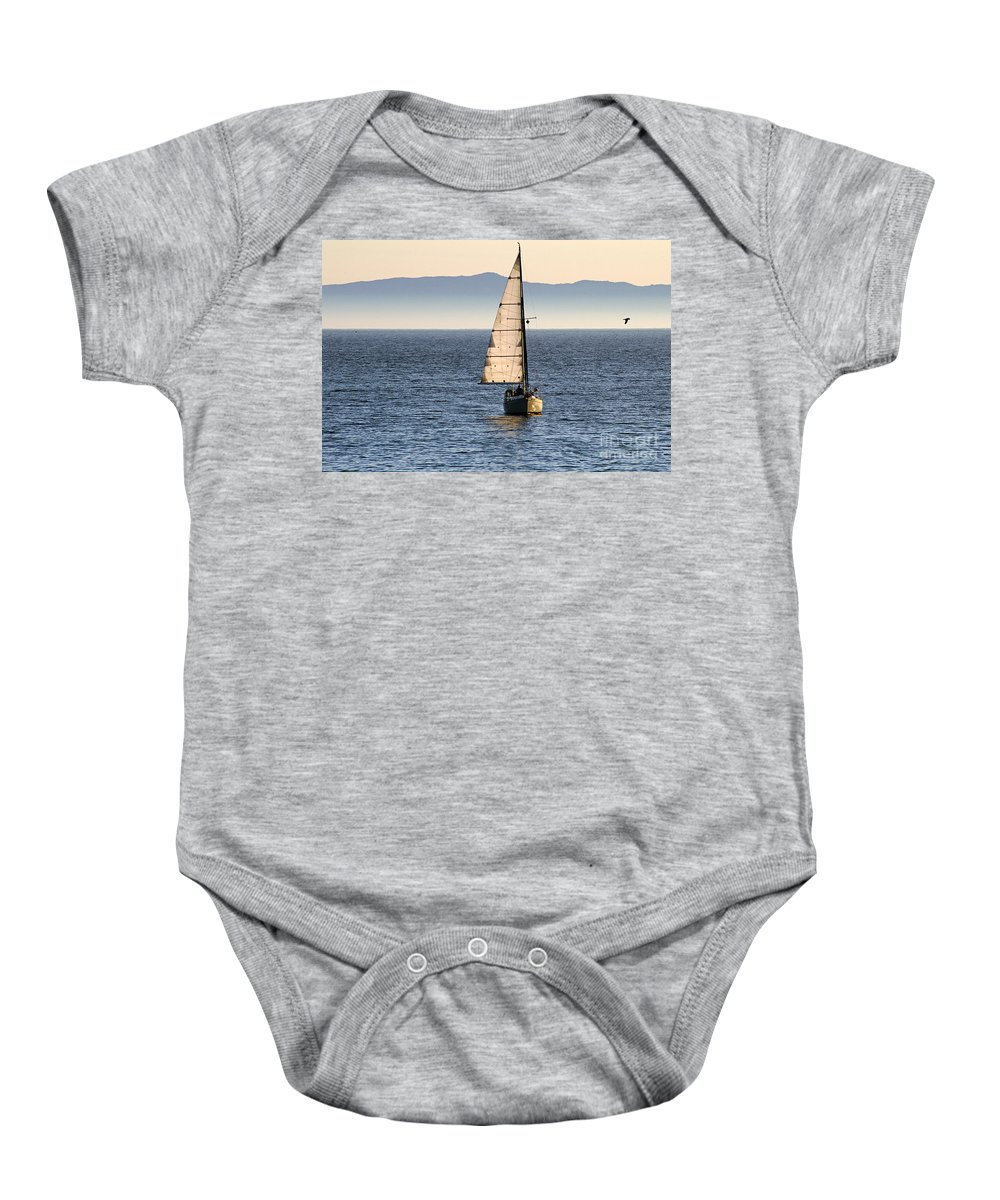 Clay Baby Onesie featuring the photograph Chasing The Mist by Clayton Bruster