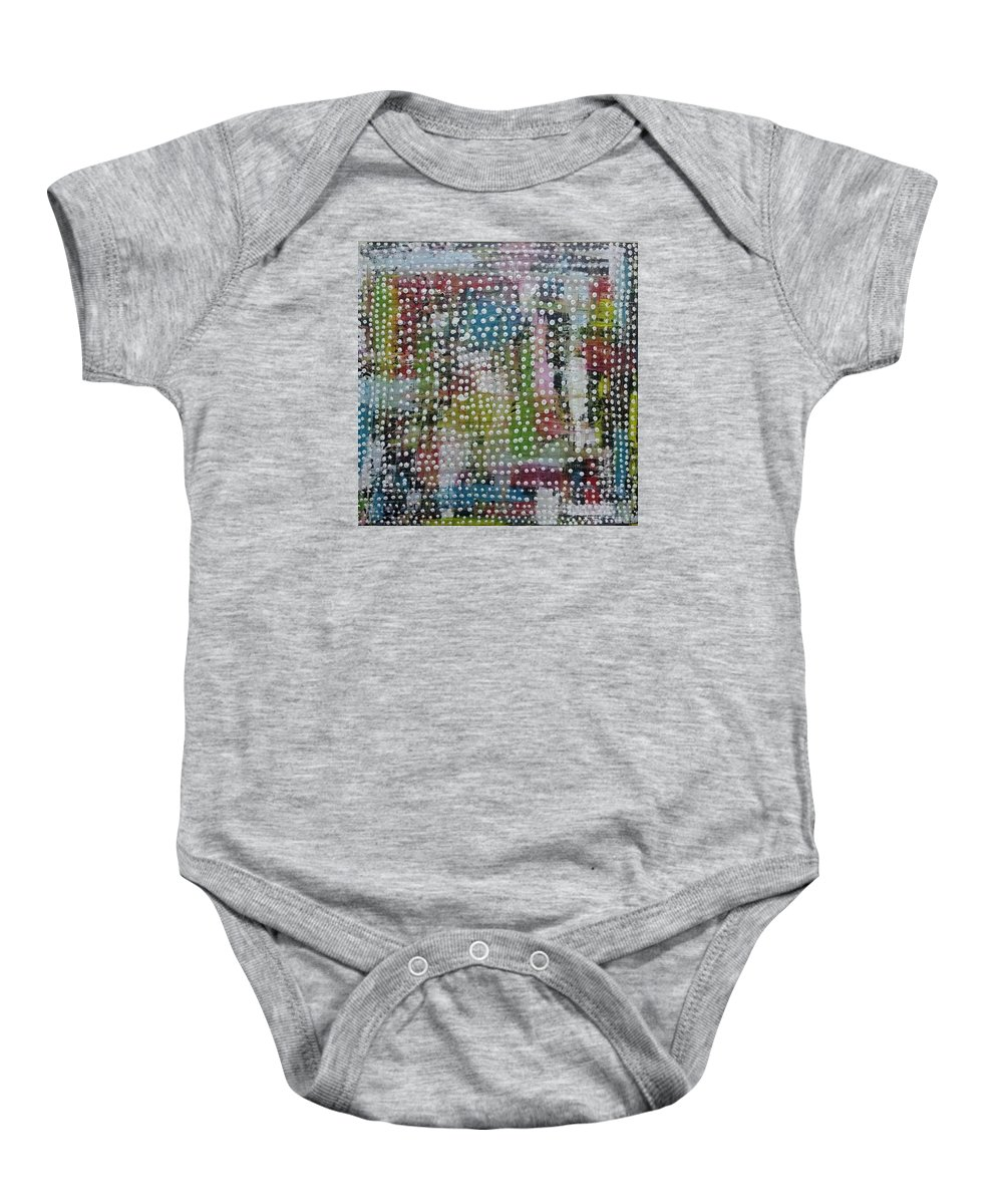 Art Baby Onesie featuring the painting Chepe by Valentin Quintana