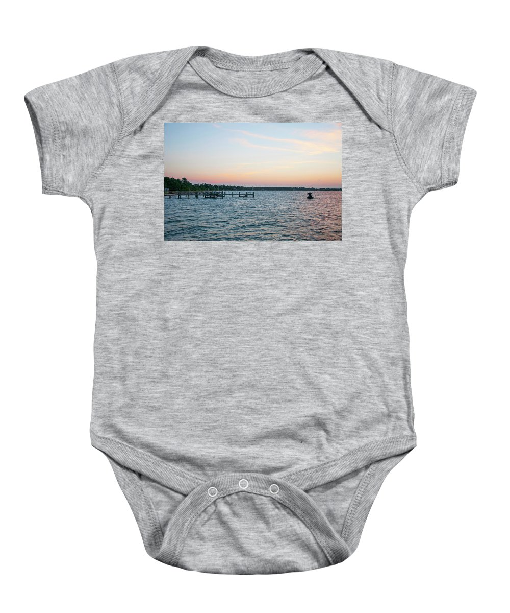 Chesapeake Baby Onesie featuring the photograph Chesapeake Bay - Piney Point Maryland by Bill Cannon