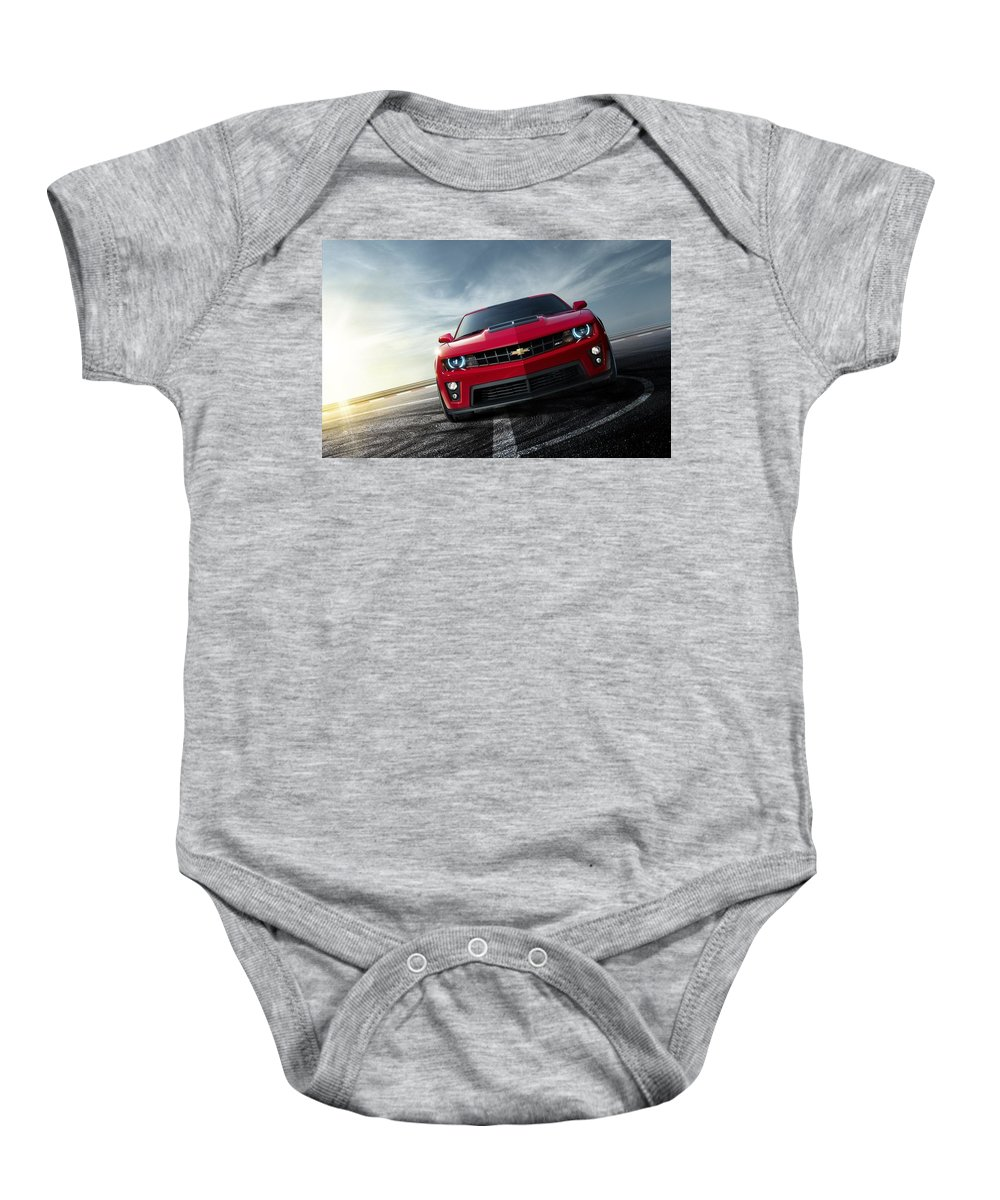 Baby Onesie featuring the digital art Chevrolet Camaro Zl1 2012 by Alice Kent