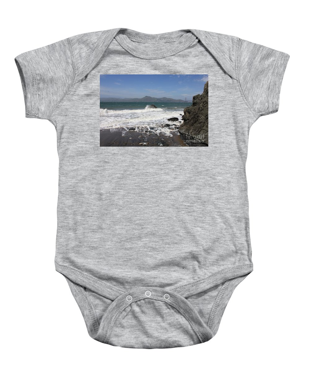 Baby Onesie featuring the photograph China Beach by Carol Groenen