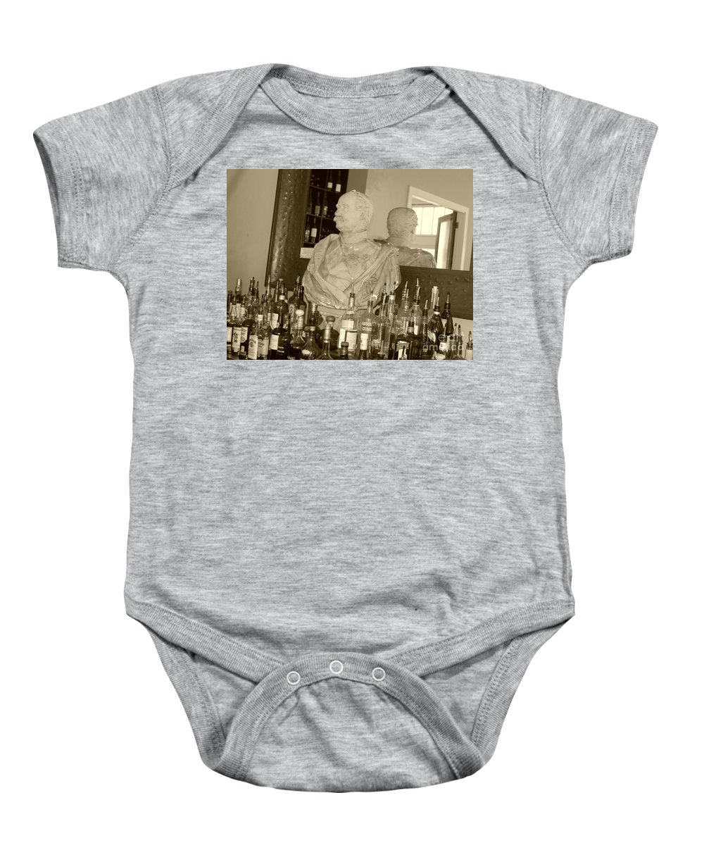 Bust Baby Onesie featuring the photograph Chipped Reflection by Debbi Granruth