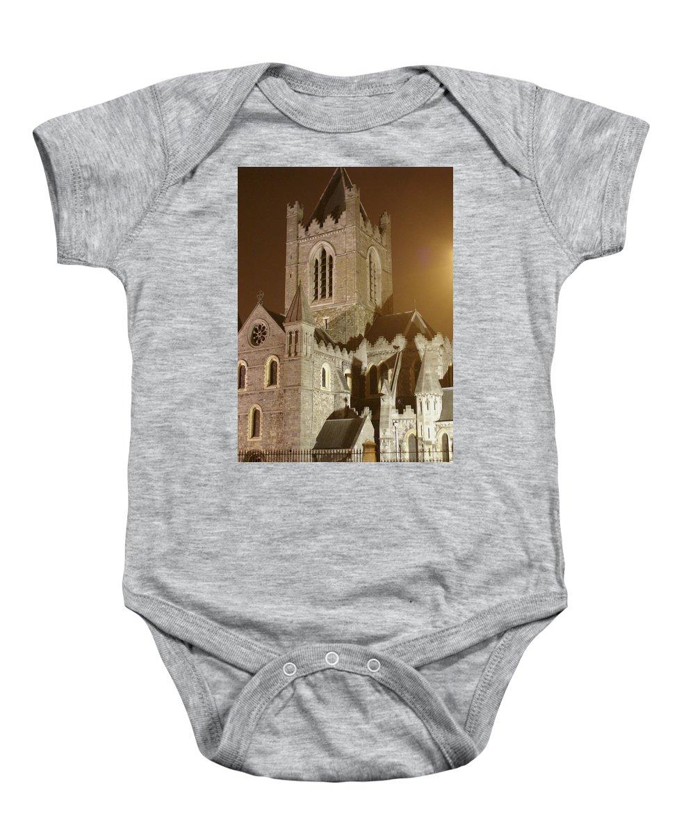 Church Baby Onesie featuring the photograph Christ Church Dublin Ireland by Henri Irizarri