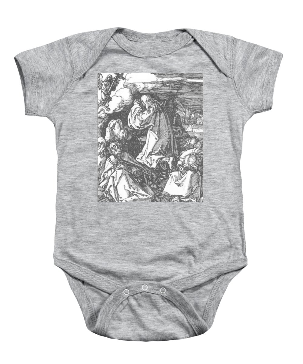 Christ Baby Onesie featuring the painting Christ On The Mount Of Olives 1511 by Durer Albrecht