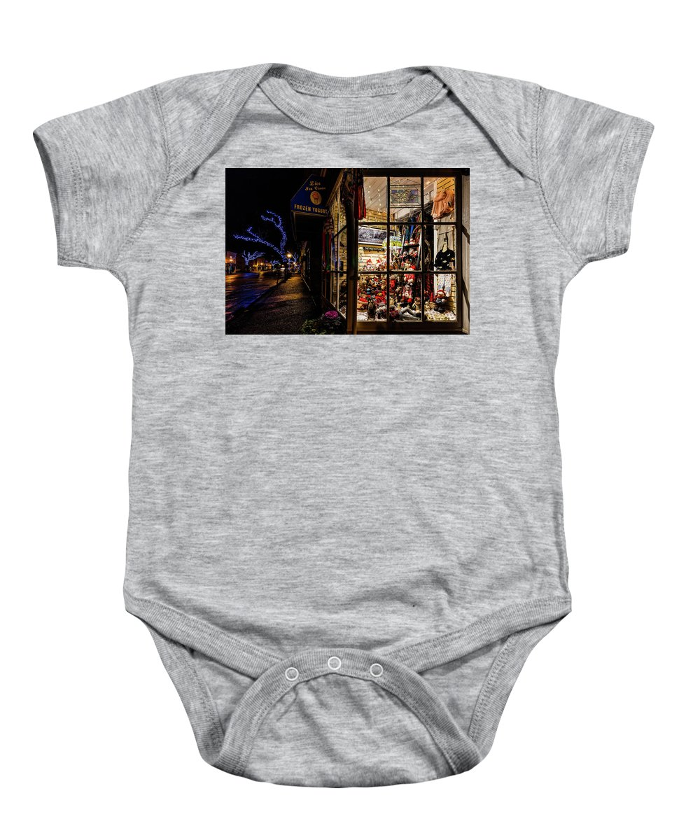 Northport Baby Onesie featuring the photograph Christmas In Northport by Sean Mills