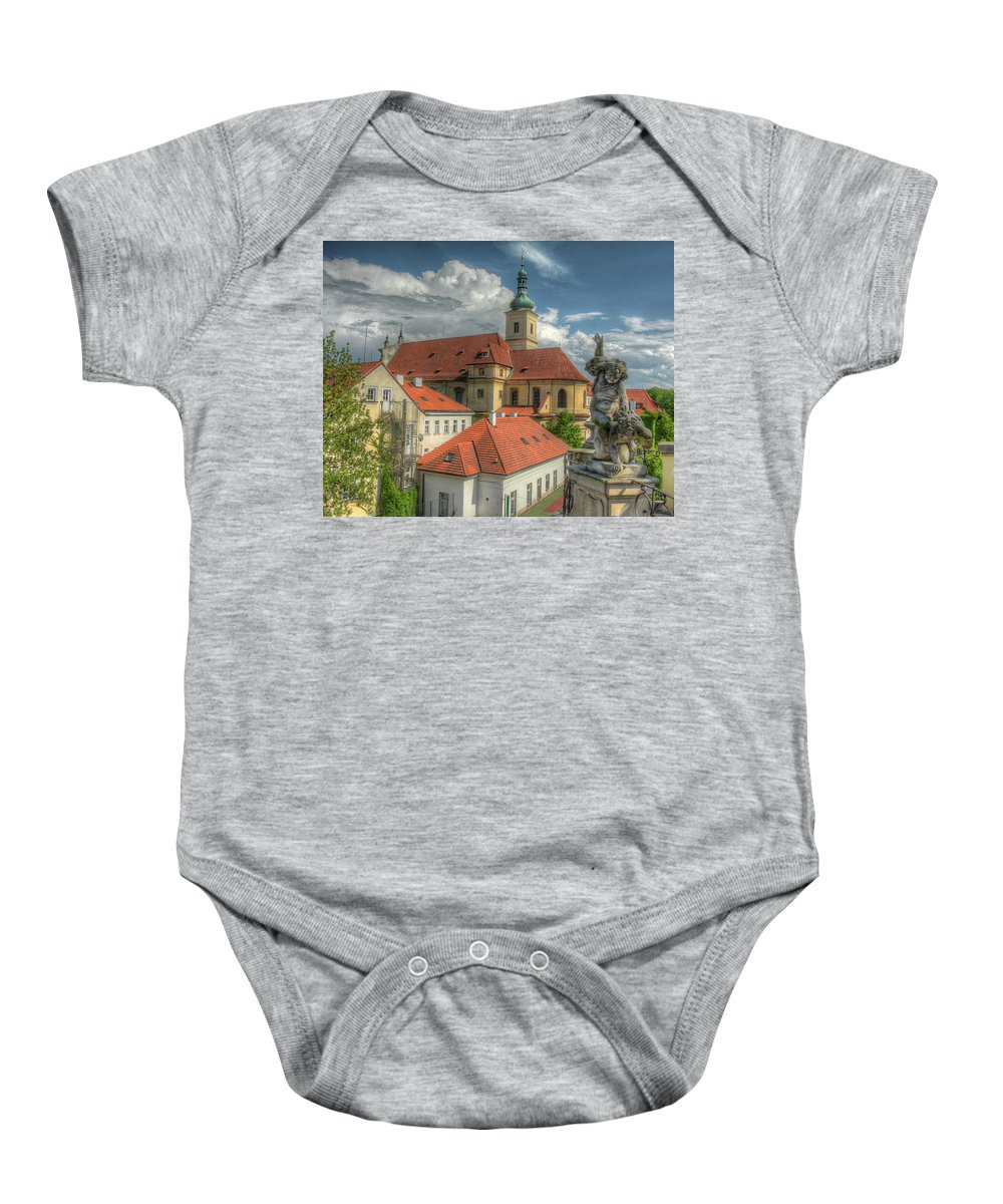 Baby Onesie featuring the photograph Church Of Our Lady Victorious by Michael Kirk