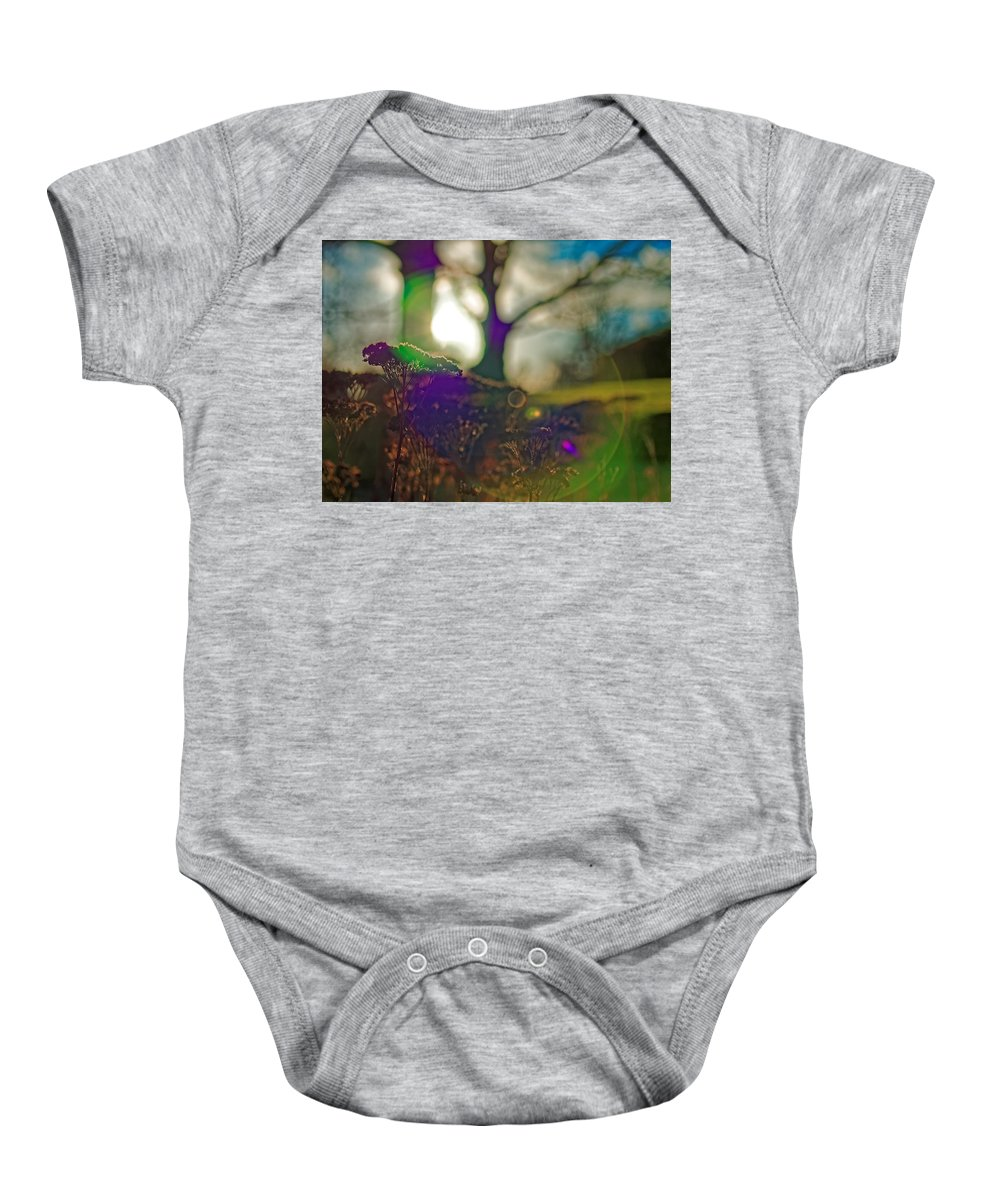 Circles Baby Onesie featuring the photograph Circles Of Light And Color by Jan Eufinger