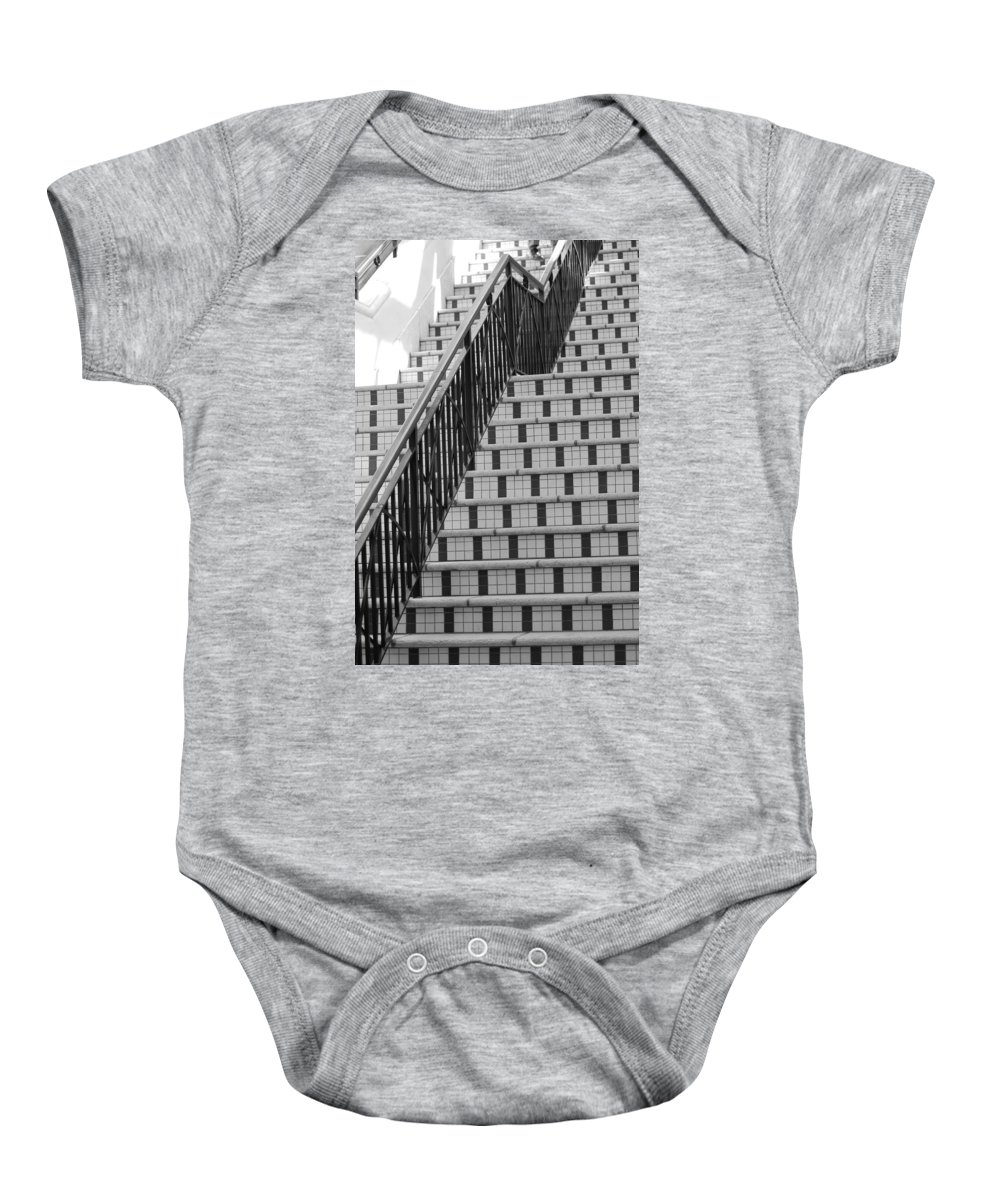 Architecture Baby Onesie featuring the photograph City Stairs II by Rob Hans