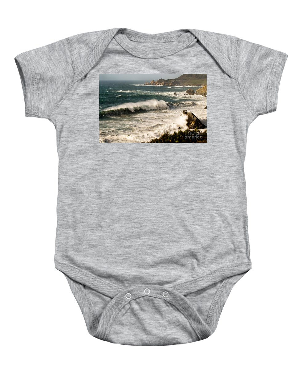 Costal Baby Onesie featuring the photograph Classic California Surf by Norman Andrus