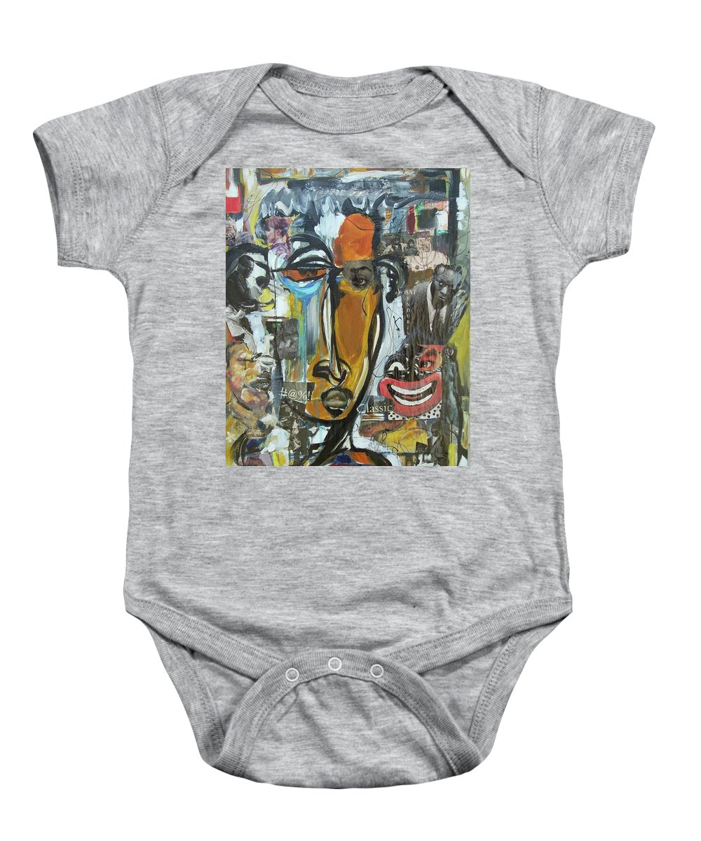 Culture Baby Onesie featuring the painting Classic by Hasaan Kirkland