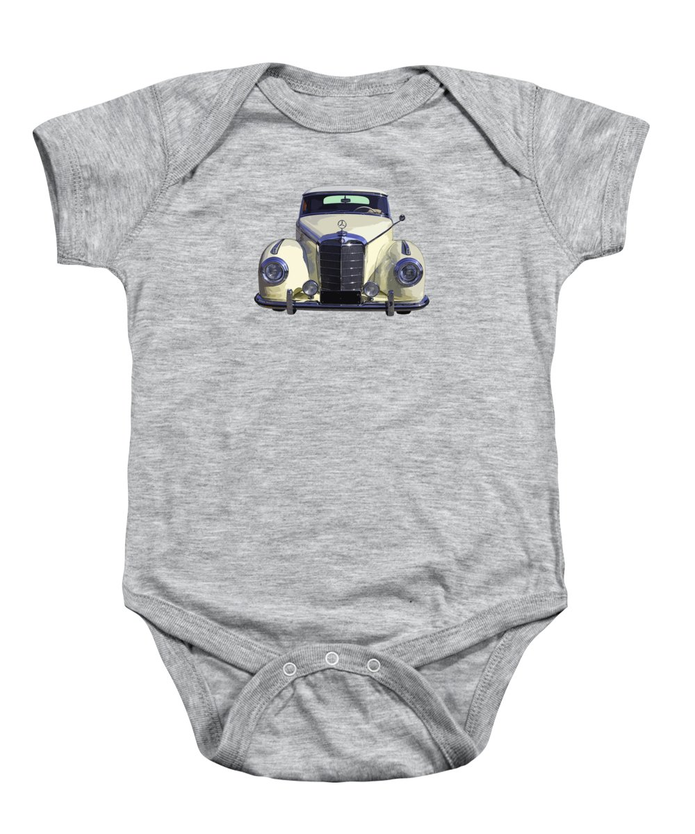 Mercedes Benz 300 Baby Onesie featuring the photograph Classic White Mercedes Benz 300 by Keith Webber Jr