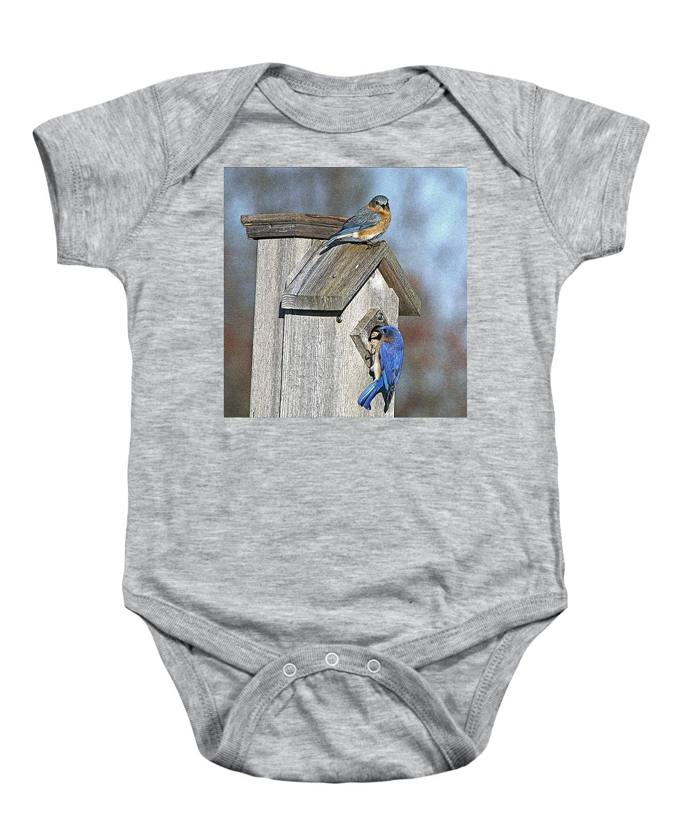 Nature Baby Onesie featuring the photograph Cleaning House by Robert Pearson