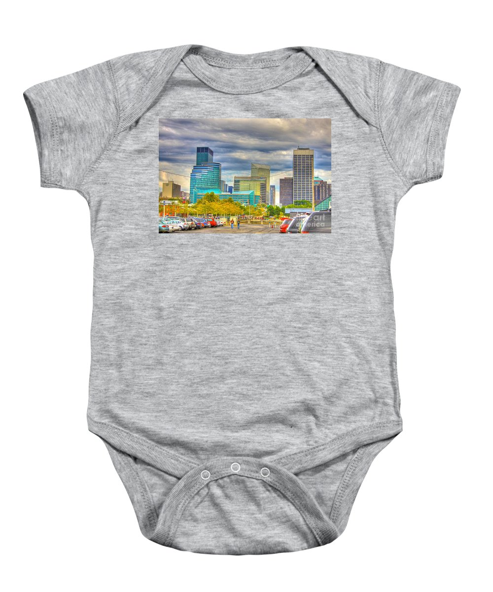 Cleveland Baby Onesie featuring the photograph Cleveland-44 by Robert Pearson