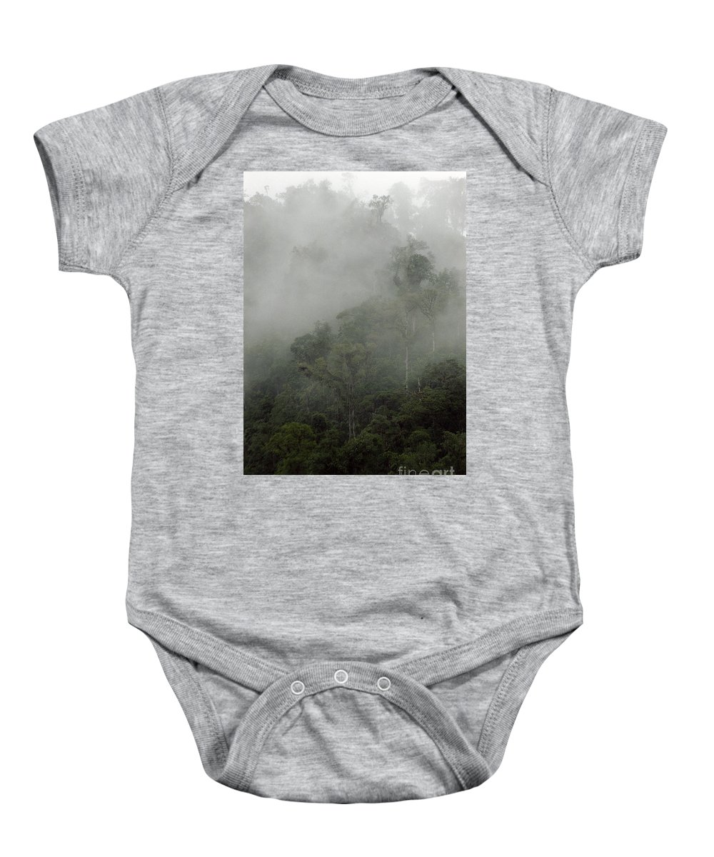 Rainforest Baby Onesie featuring the photograph Cloud Forest by Kathy McClure
