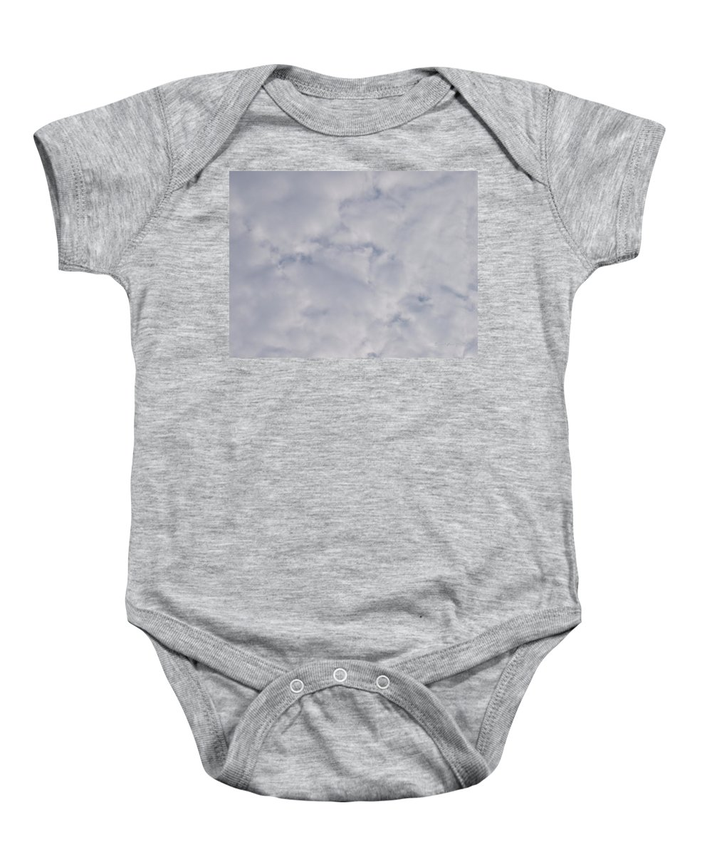 Clouds Baby Onesie featuring the photograph Cloud Mass - Fist Holding Arrowhead - Look Closely by Deborah Crew-Johnson