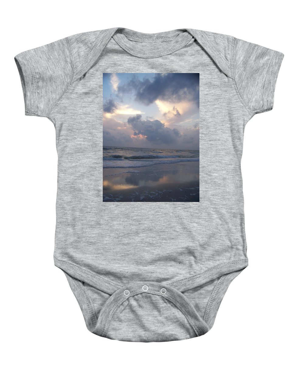 Rain Baby Onesie featuring the photograph Cloudy Day In Naples by Laurie Paci