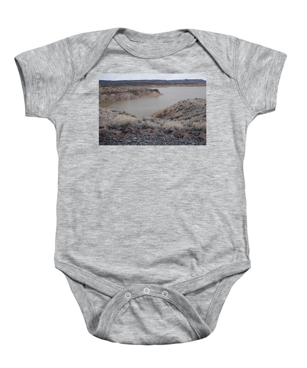 Mountians Baby Onesie featuring the photograph Cochiti Lake by Rob Hans