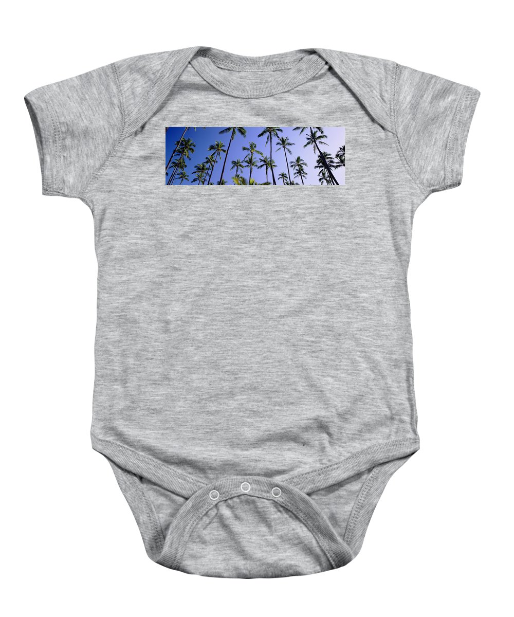 Afternoon Baby Onesie featuring the photograph Coconut Grove At Wailua by Carl Shaneff - Printscapes
