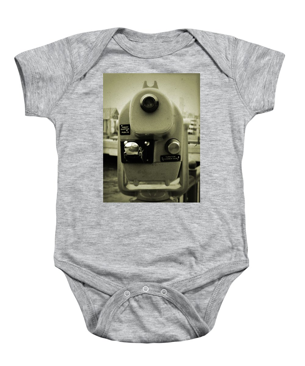 Coin Operated Telescope Baby Onesie featuring the photograph Coin Operated Telescope by Kyle Hanson