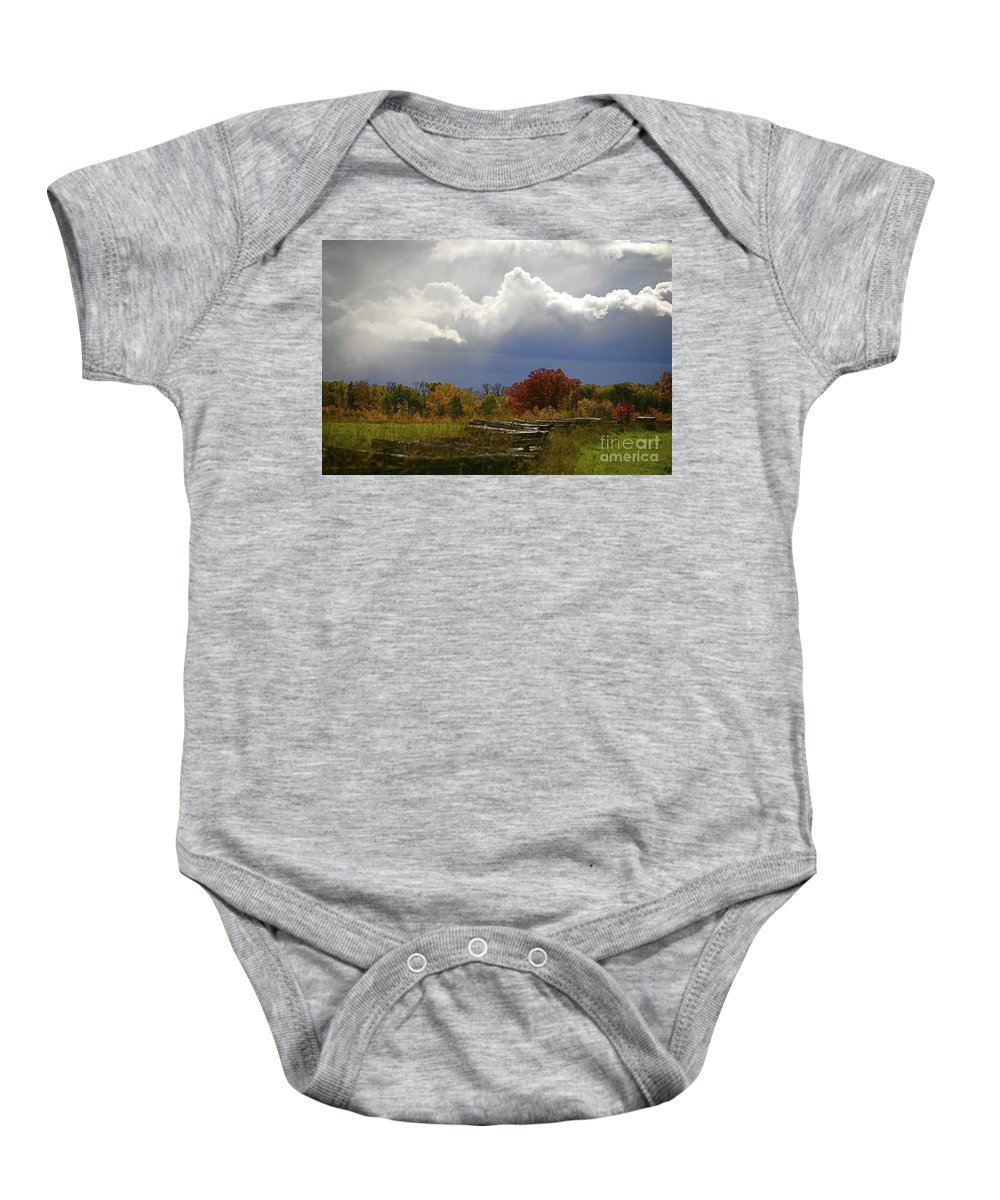 Landscape Baby Onesie featuring the photograph Cold Front by Robert Pearson