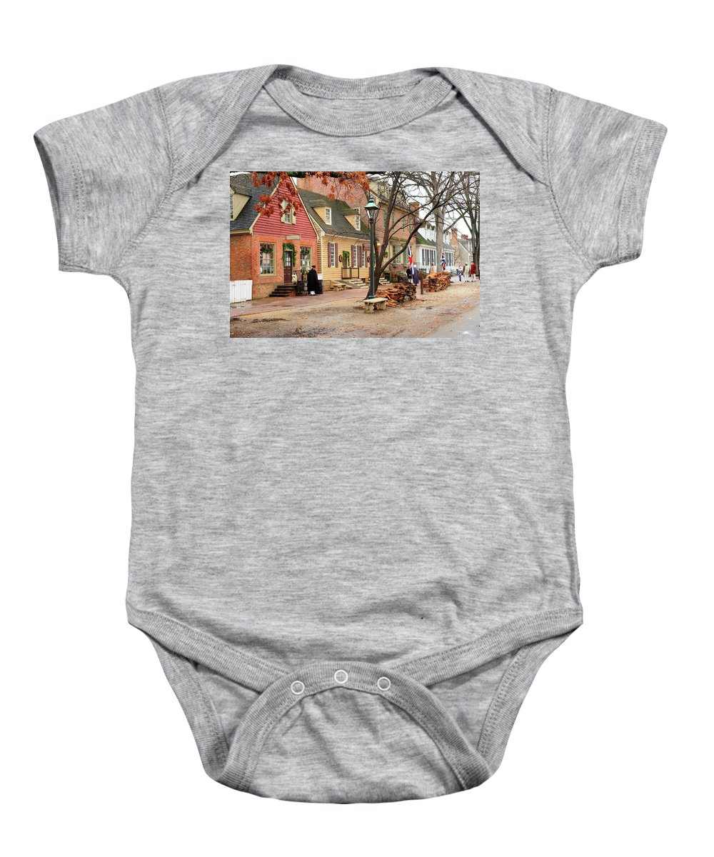 American Baby Onesie featuring the photograph Colonial Morning by Lou Ford