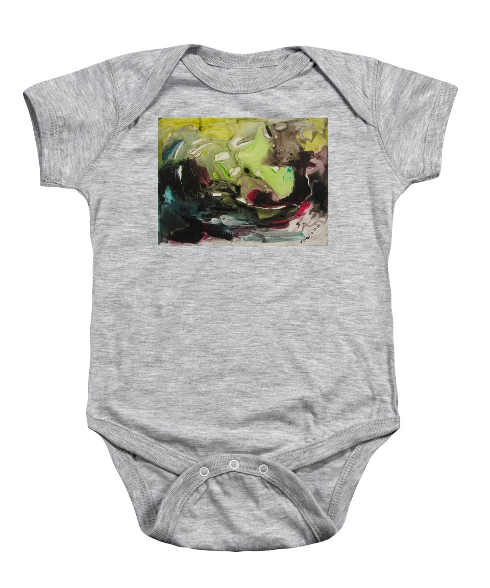 Abstract Paintings Baby Onesie featuring the painting Color Fever 116 by Seon-Jeong Kim