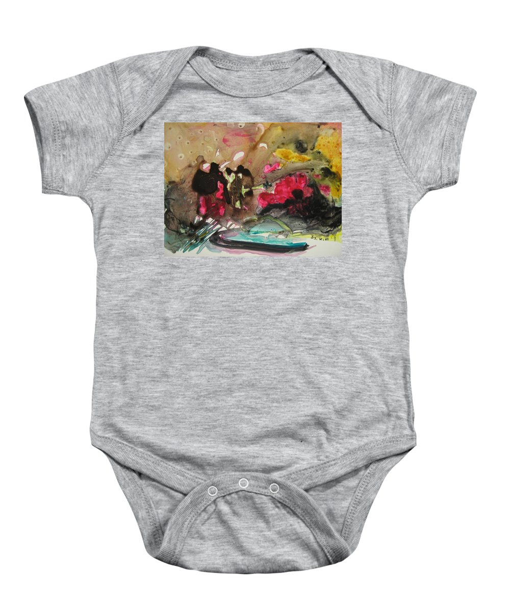 Abstract Paintings Baby Onesie featuring the painting Color Fever 140 by Seon-Jeong Kim