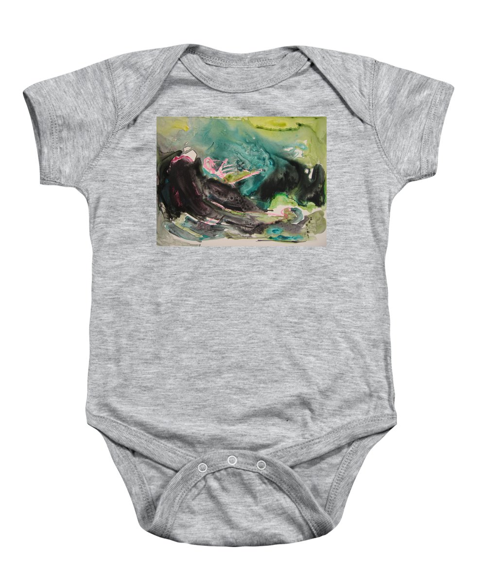 Abstract Paintings Baby Onesie featuring the painting Color Fever Series009 by Seon-Jeong Kim