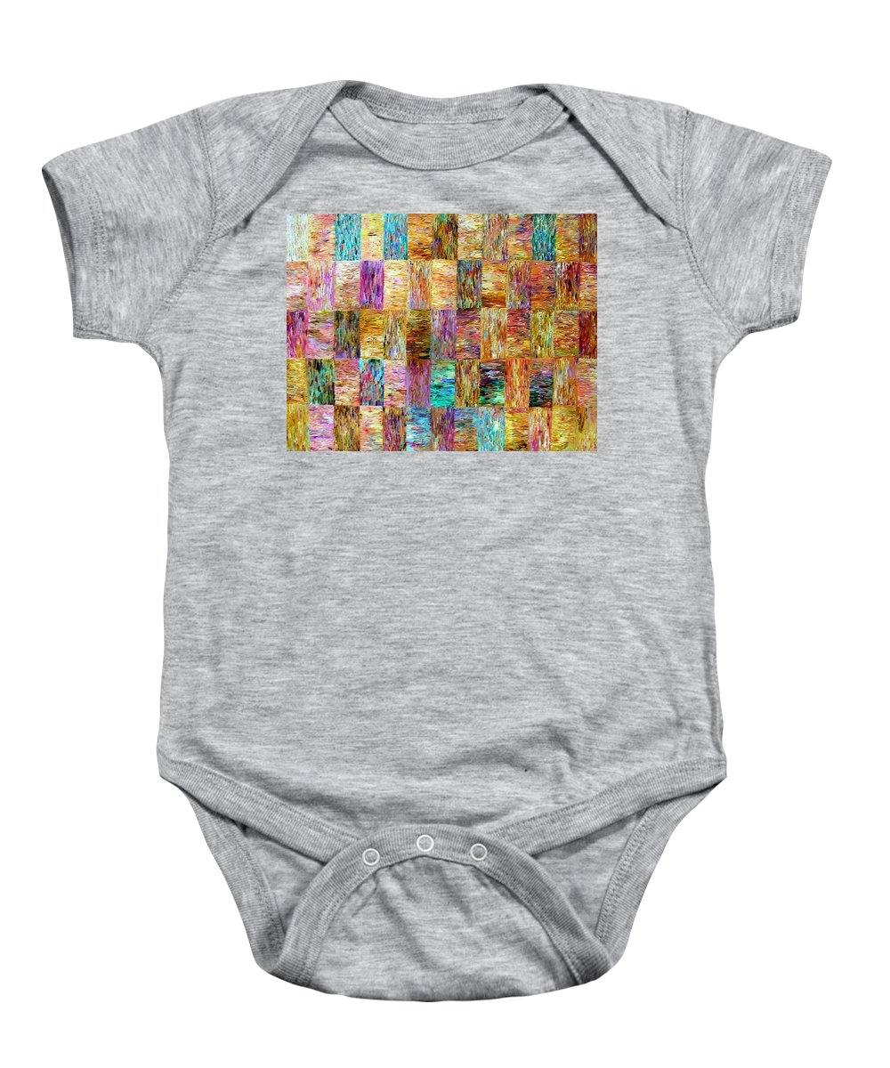 Color Fields Baby Onesie featuring the painting Color Fields by Dawn Hough Sebaugh