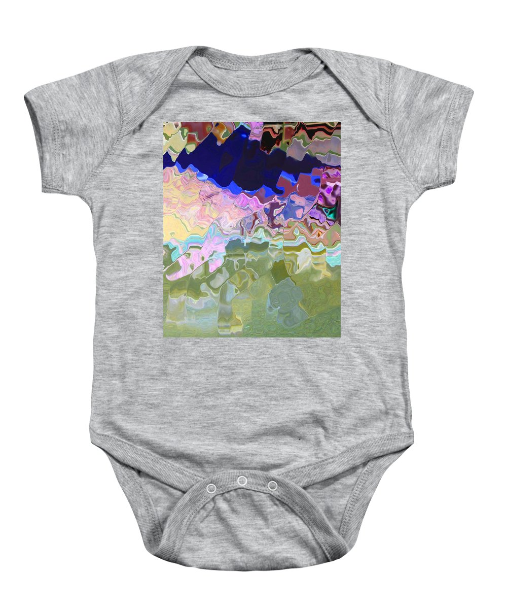 Abstract Baby Onesie featuring the digital art Colorado Mountains by Lenore Senior