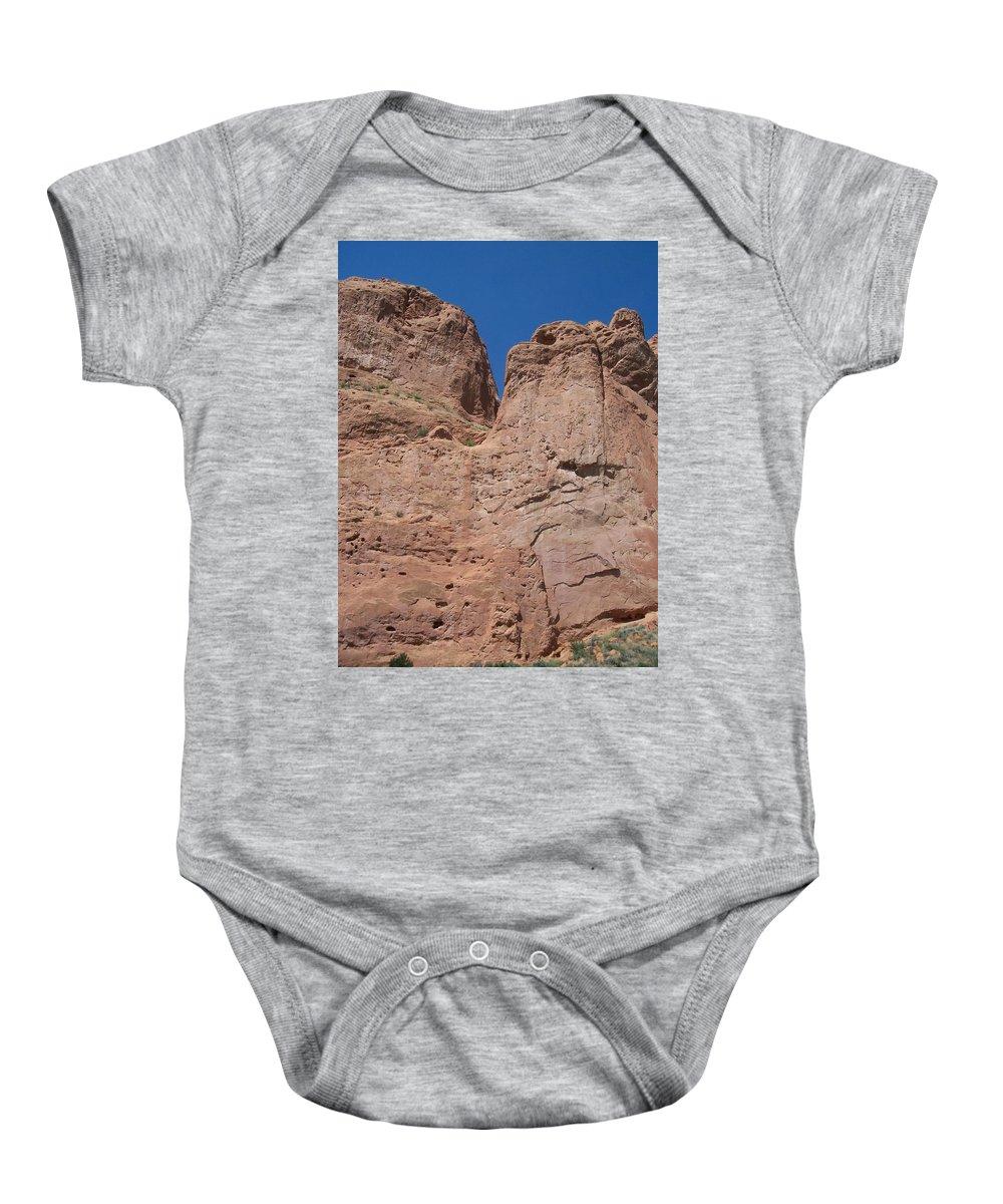 Colorado Baby Onesie featuring the photograph Colorado Redrock by Anita Burgermeister