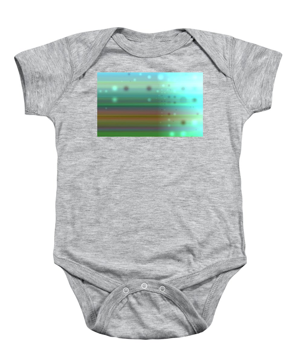 Art Digital Art Baby Onesie featuring the digital art Colour17mlv - Impressions by Alex Porter