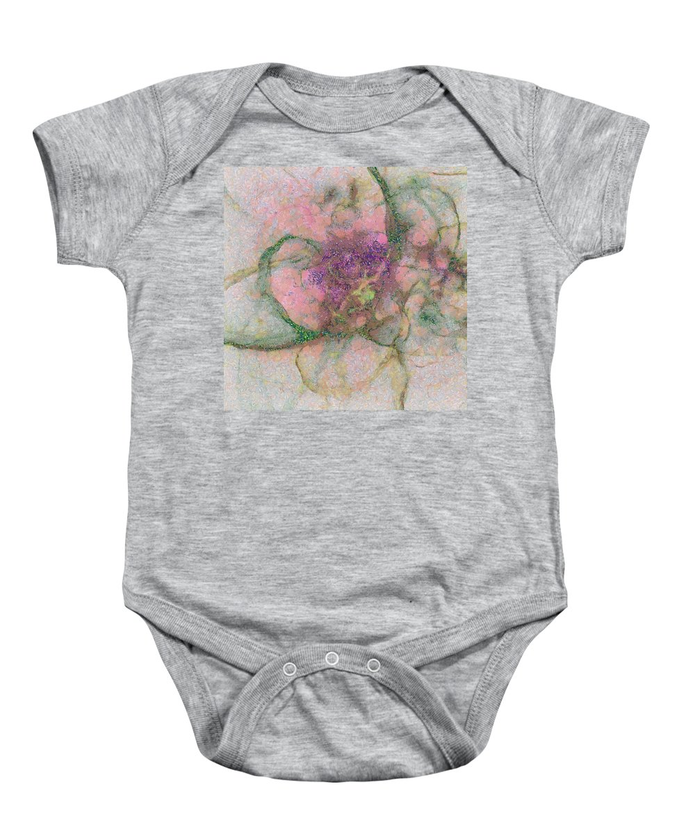 Imaginary Baby Onesie featuring the painting Colouristic Speculation Id 16099-061949-68480 by S Lurk