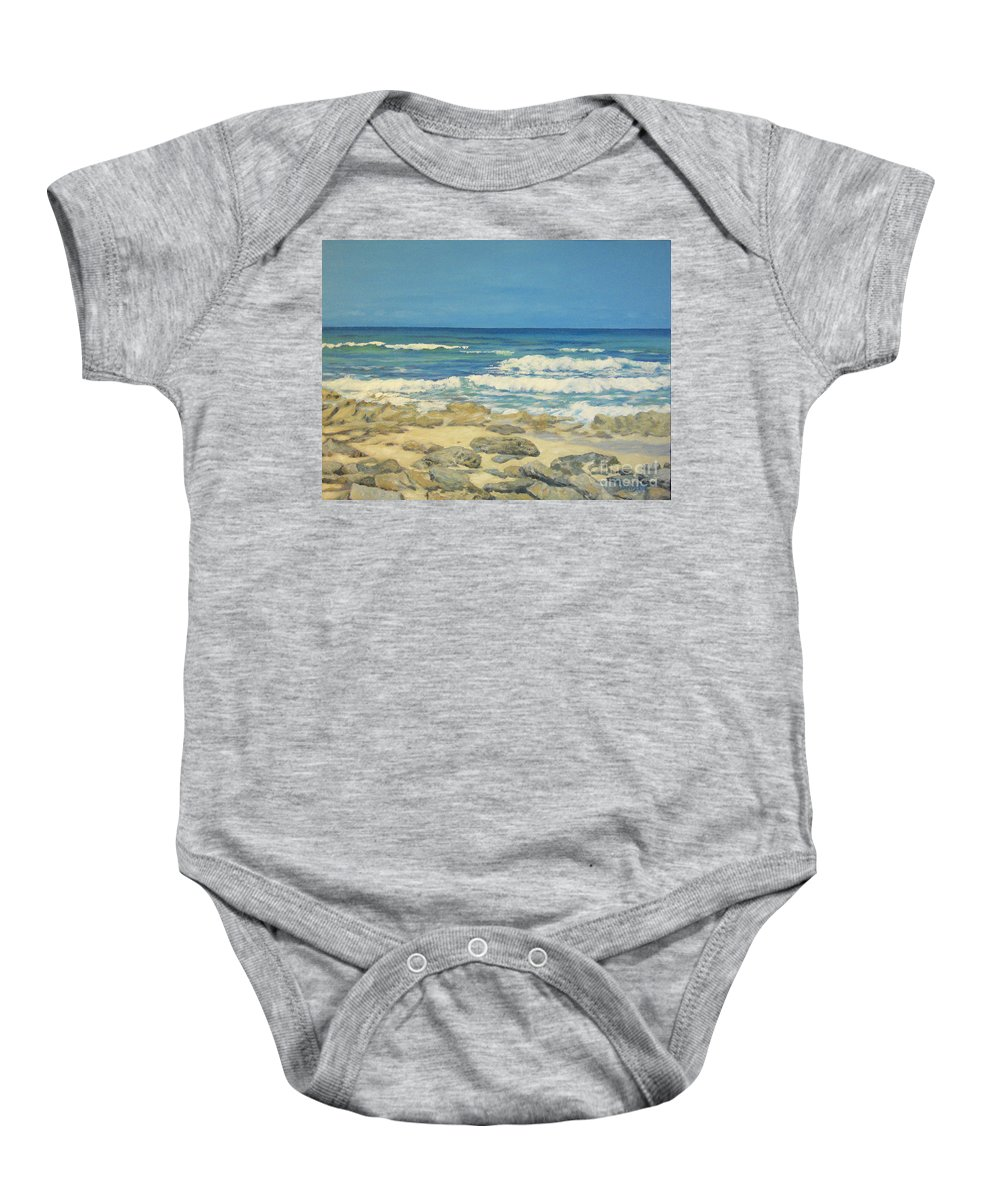Compass Cay Baby Onesie featuring the painting Compass Cay by Danielle Perry